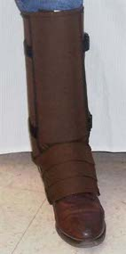 Snake Proof Comfortable Leg Armor in Cocoa Brown