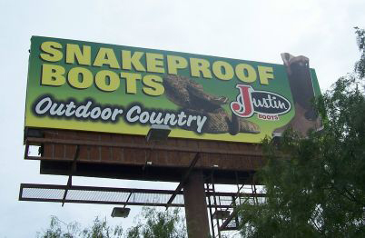 Snake Protection from Justin Boots