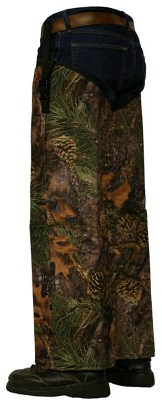 Crackshot Snake Chaps Regular Protection True Timber Mixed Pine Amerisuede